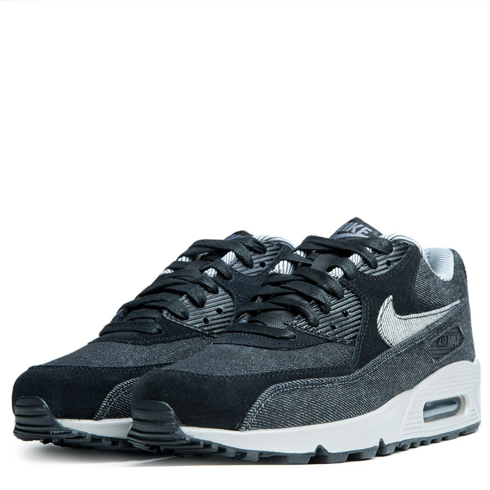 Nike Air Max 90 SE Denim Womens 7 Black Dark Grey 881105 002 Shoes Low Top