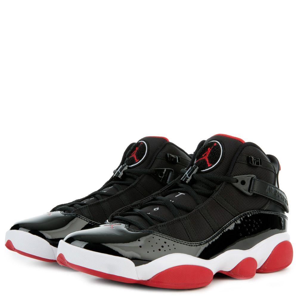 jordan 6 rings black and red Sale