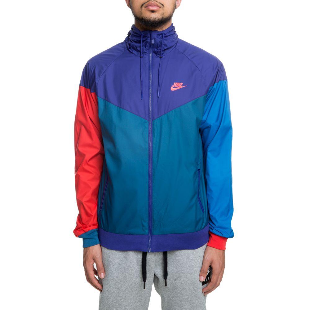 Nike Sportswear Windrunner Jacket 727324-590 Regency Purple Blue Force Red SALE