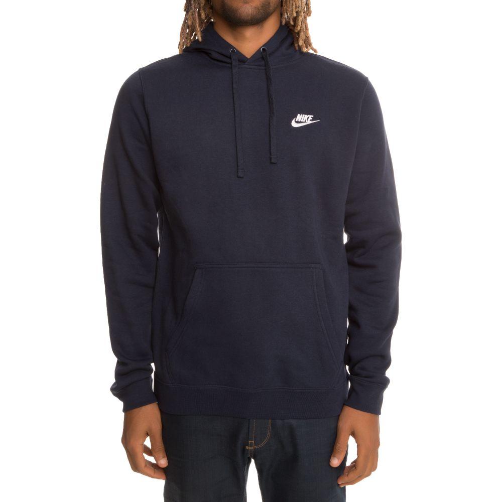 bästa leverantör skönhet online här Sportswear Pullover Fleece Hoodie Navy Blue/White