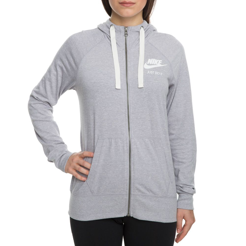 special for shoe uk cheap sale really cheap WOMEN'S NIKE SPORTSWEAR GYM VINTAGE HOODIE FZ ATMOSPHERE GREY/SAIL