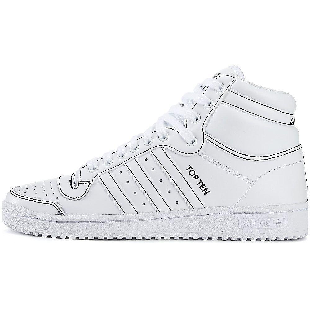 White Men's Top Ten Hi Athletic Lifestyle Sneaker
