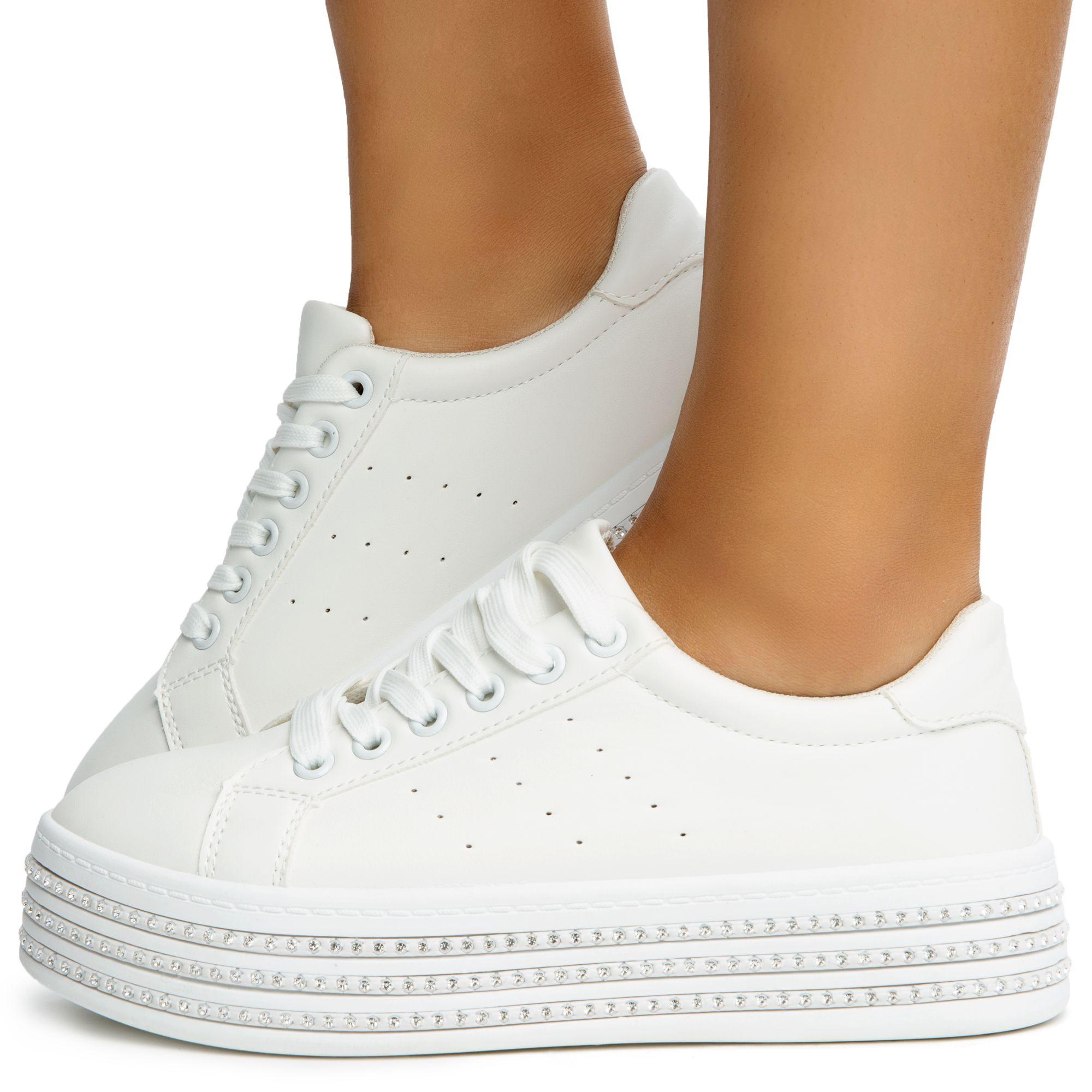 sneakers white platform