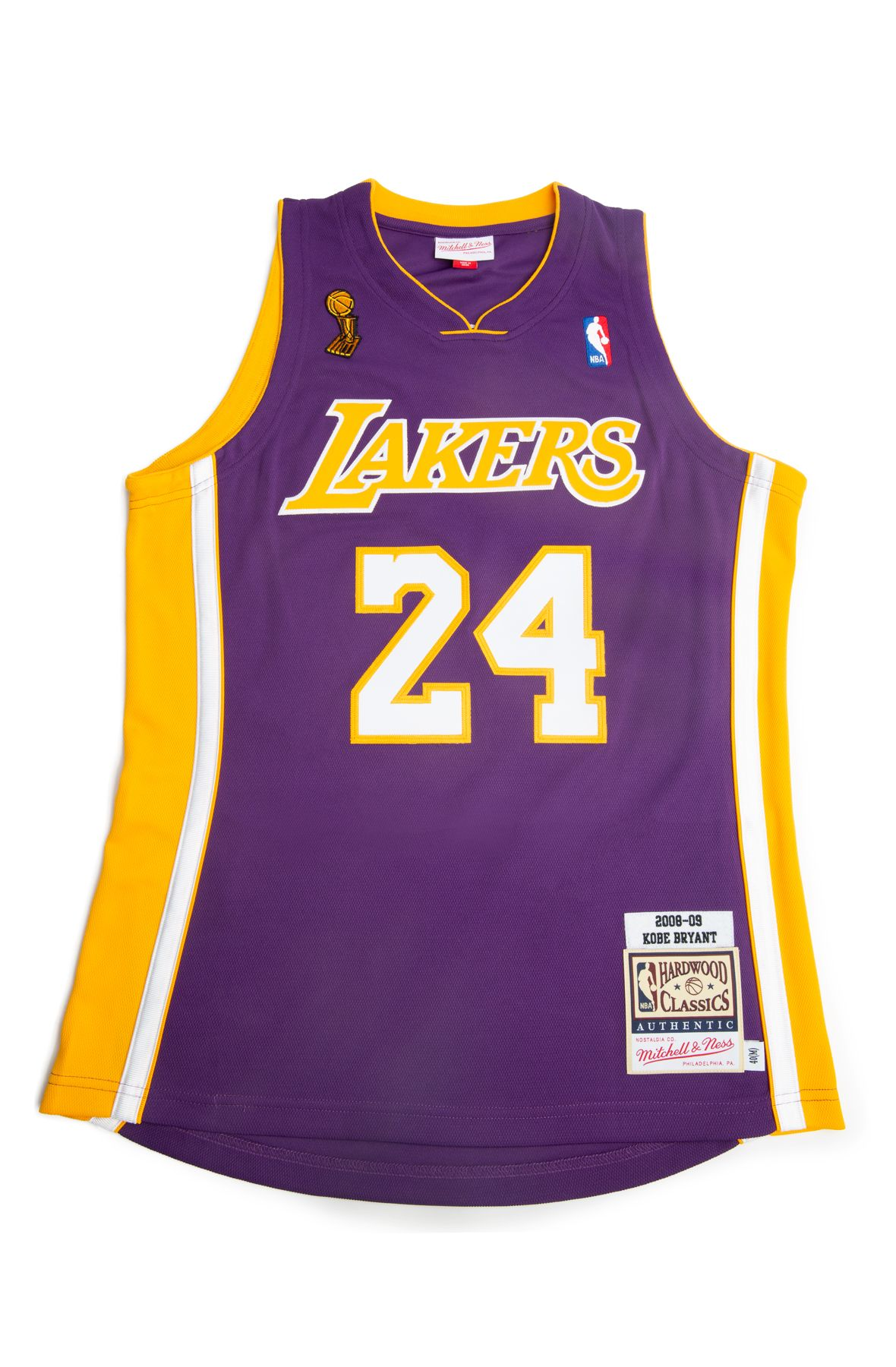 LOS ANGELES LAKERS KOBE BRYANT 2008-09 ROAD FINALS AUTHENTIC JERSEY