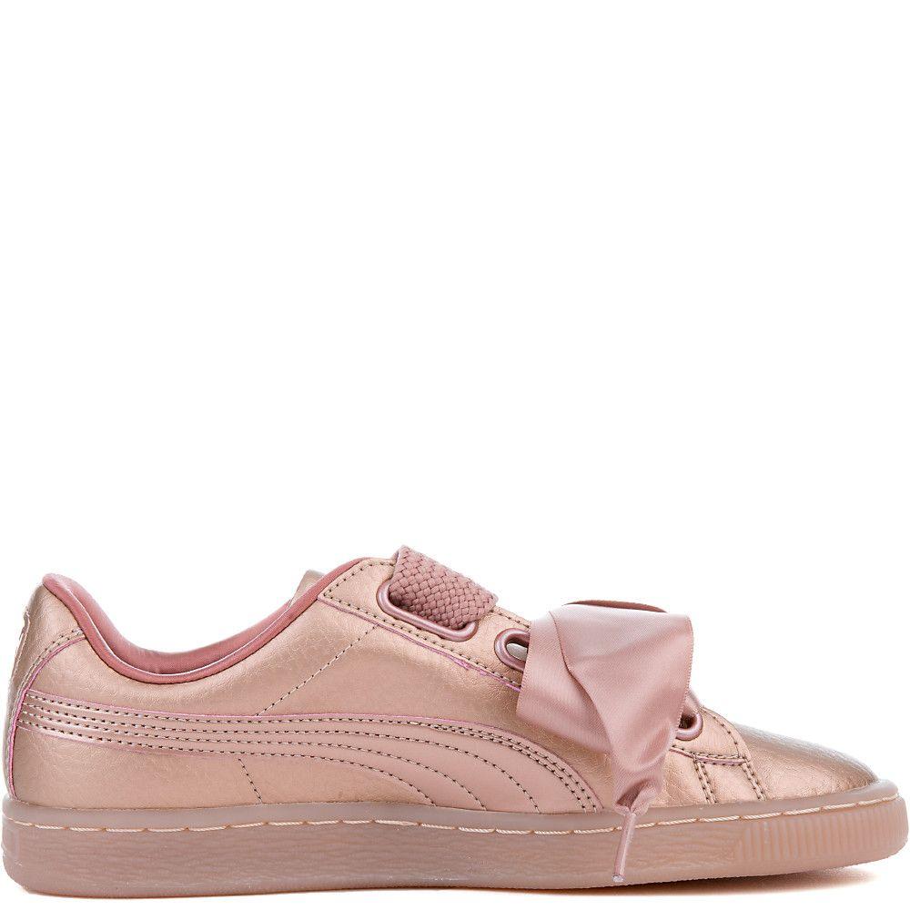 new concept d73bb 2c102 Women's Basket Heart Copper Sneaker COPPER ROSE