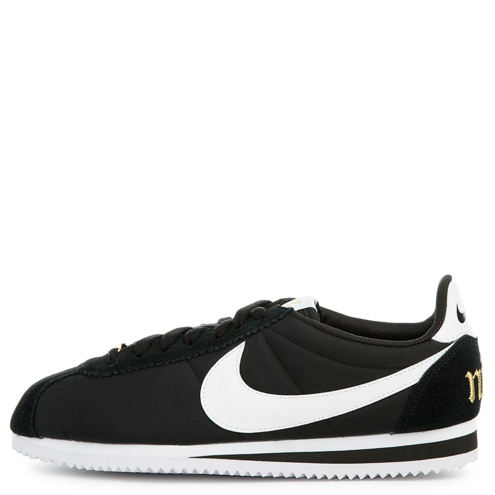 buy popular a33d9 35ad9 NIKE CORTEZ BASIC NYLON PREMIUM BLACK/WHITE-METALLIC GOLD
