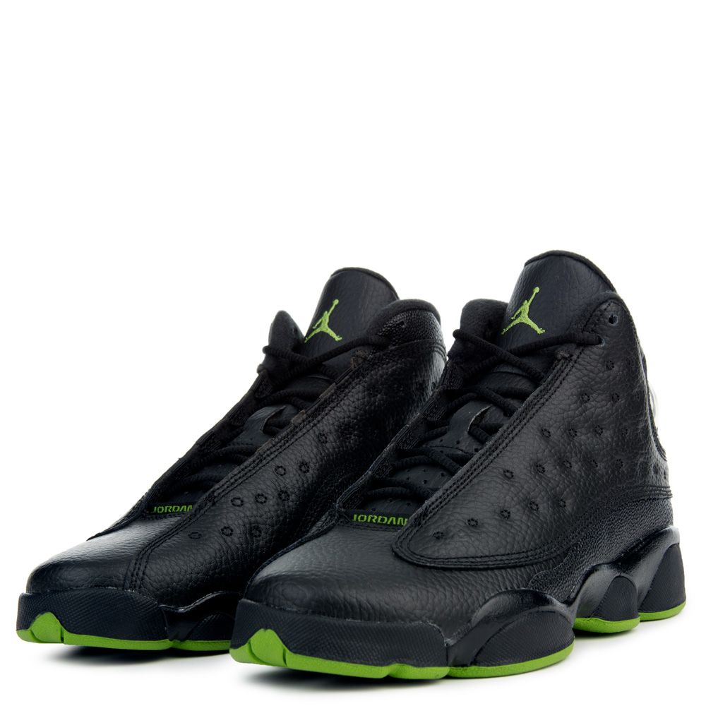 new concept 1416d 7fb59 Jordan 13 Retro BLACK/ALTITUDE GREEN
