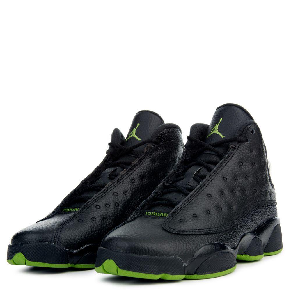 new concept c7f65 72ef0 Jordan 13 Retro BLACK/ALTITUDE GREEN