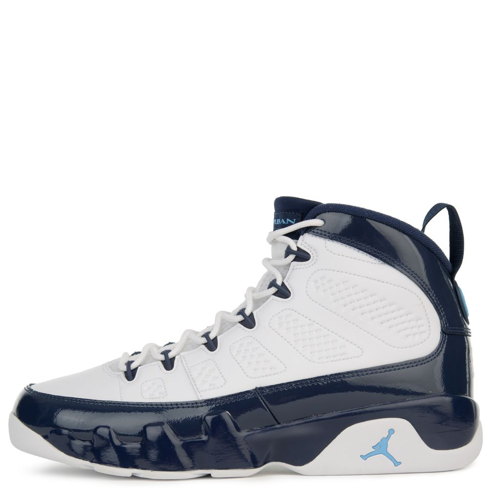 huge discount ee712 5328e AIR JORDAN 9 RETRO WHITE/UNIVERSITY BLUE-MIDNIGHT NAVY