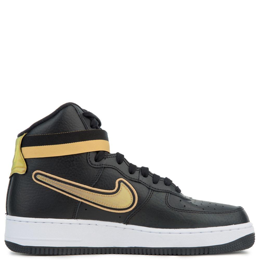 Nike Air Force 1 Low 'Stars' BlackMetallic Gold White For Sale