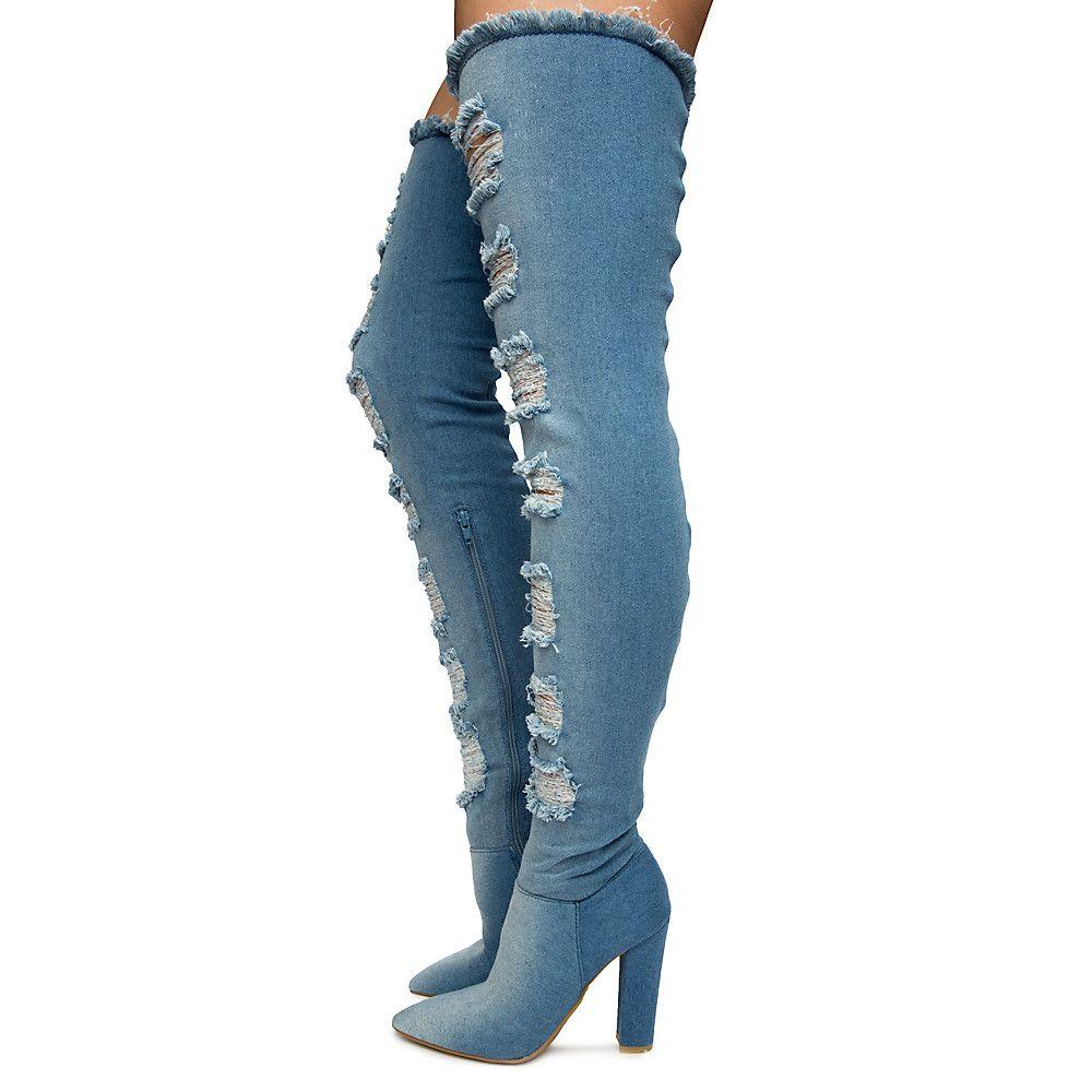 Women's Madam Thigh-High Heel Boots