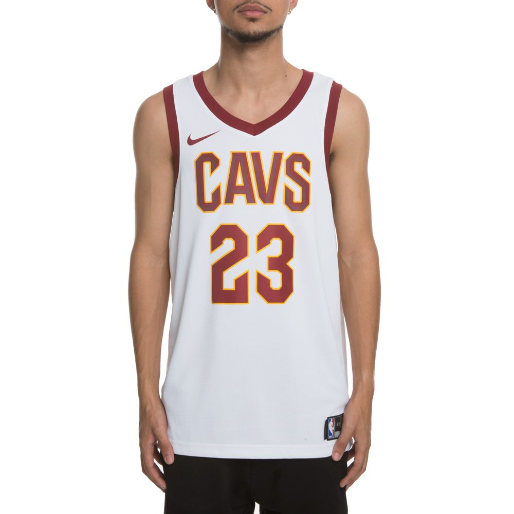 new arrival 25712 f9c13 MEN'S NIKE CLEVELAND CAVALIERS SWINGMAN JERSEY WHITE/TEAM RED/UNIVERSITY  GOLD