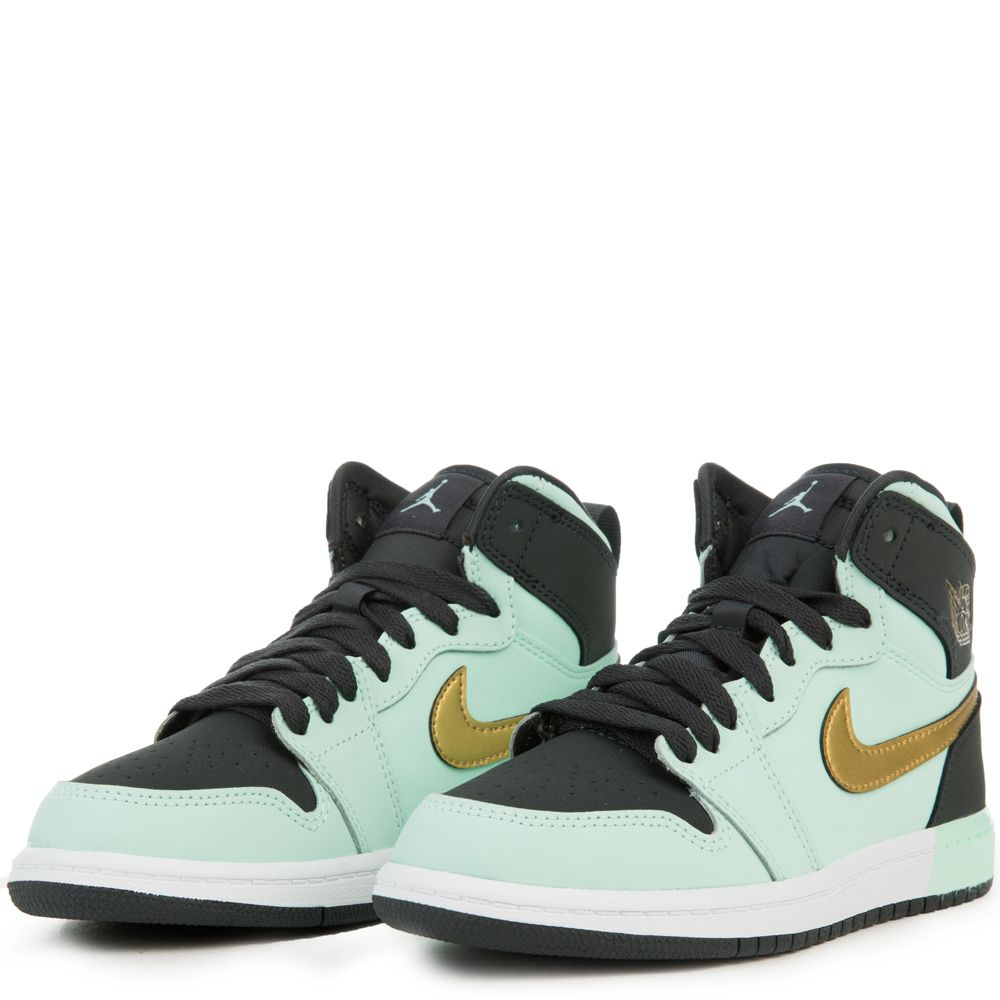 Jordan 1 Retro High Little Kids 705321-300 Mint Foam Gold Shoes Youth Size