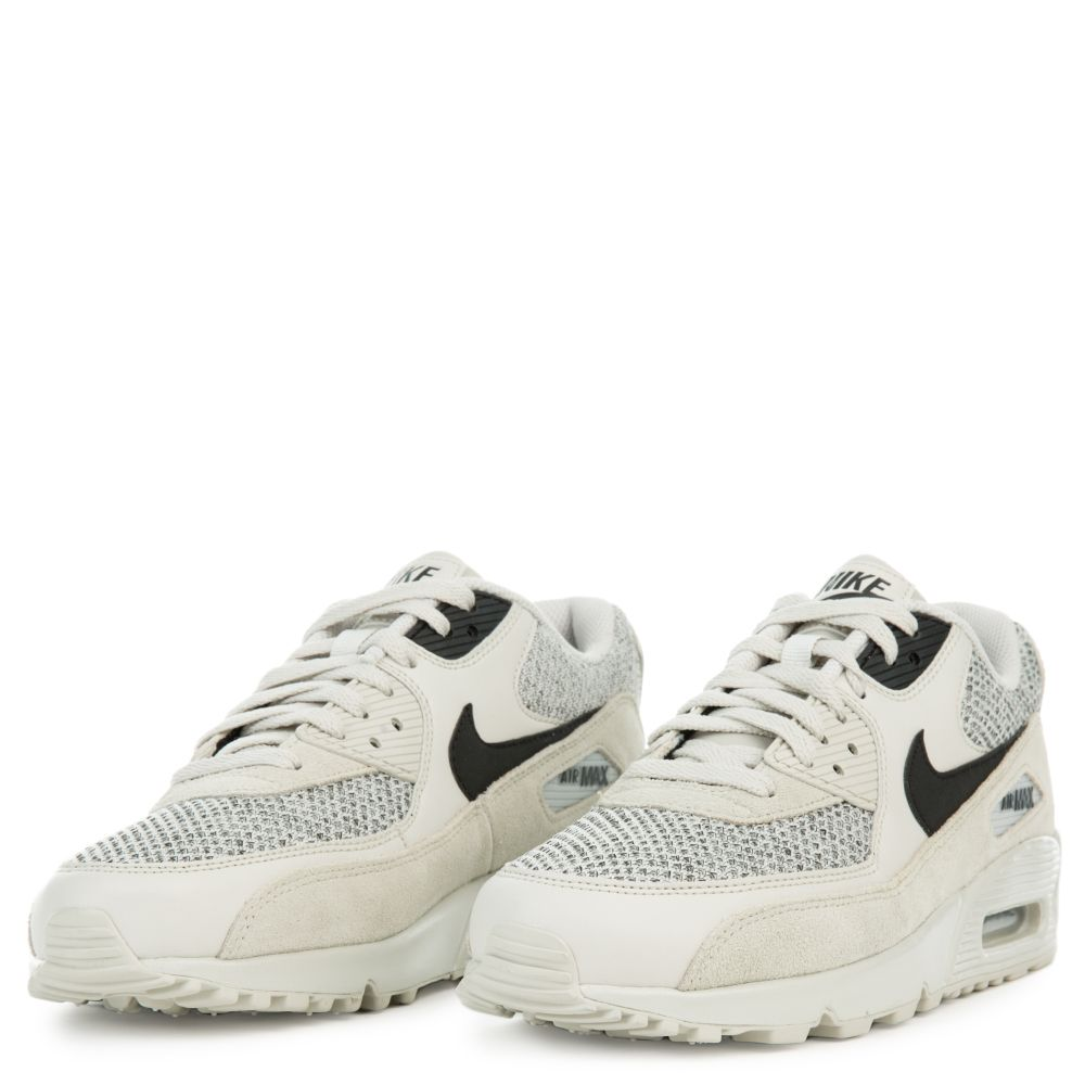 Nike Air Max 90 Essential Light BoneBlack Black 537384 074 Mens Sz 11.5