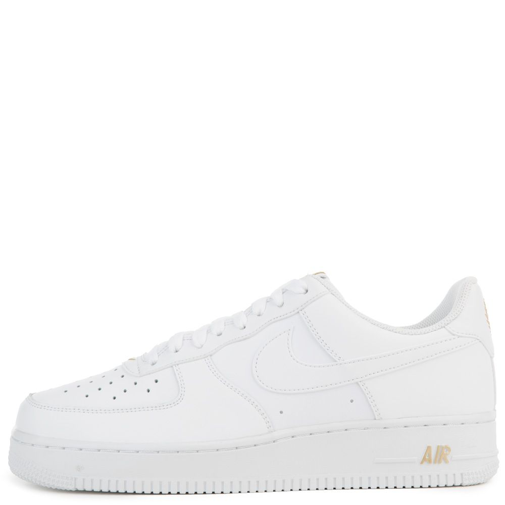 nike air force 1 metallic white gold