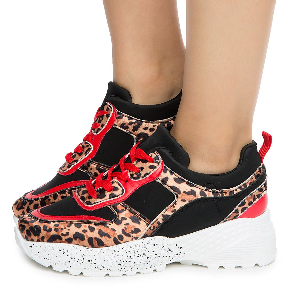 red and leopard print shoes
