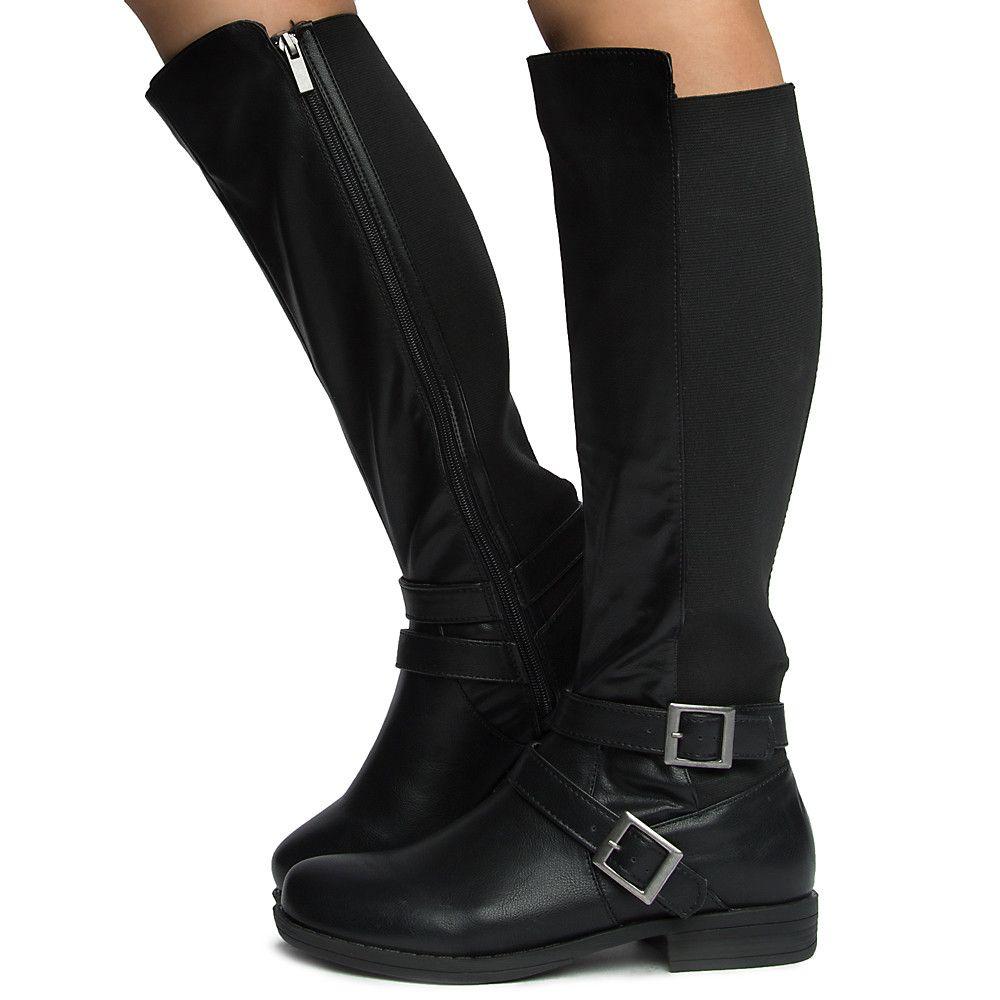 Women's Montana-75m Calf High Boots BLACK
