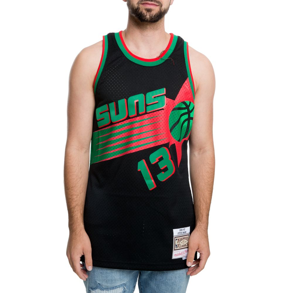online store 771f2 e6cd0 suns christmas swingman jersey - steve nash #13 black