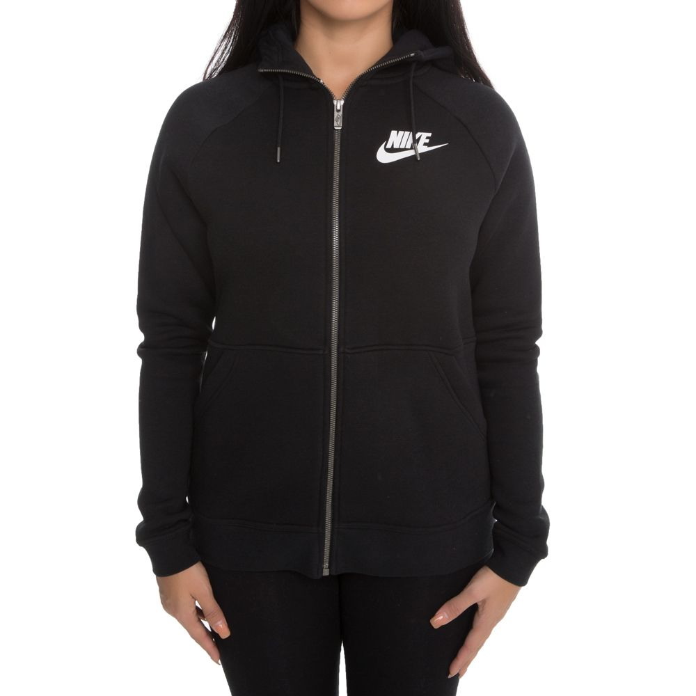 best place for attractive designs 60% discount Nike Sportswear Rally Fleece Zip Hoodie Black/White