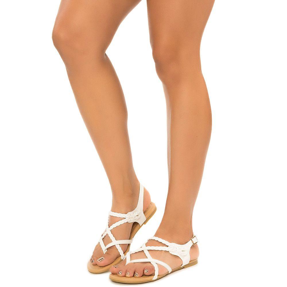 Women's Topping-S Strappy Flat Sandal White
