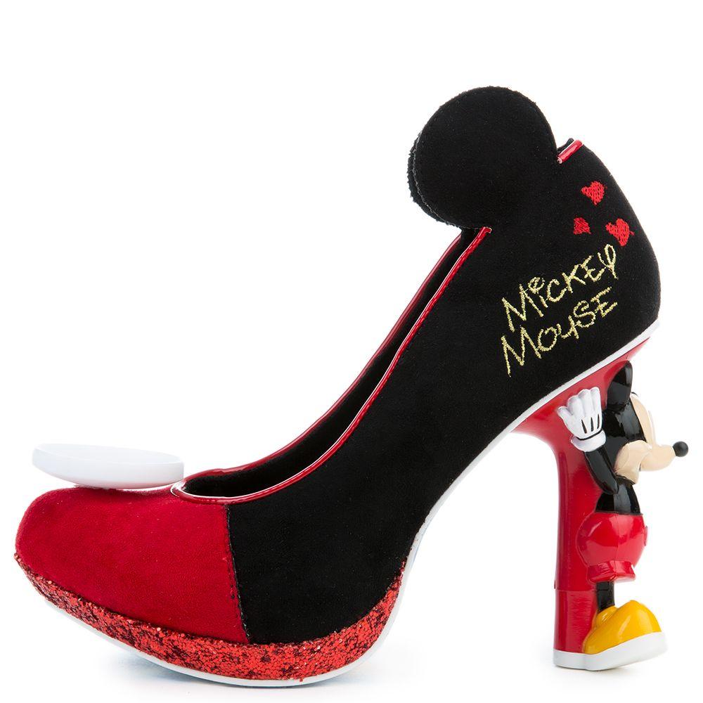 Mickey Mouse Black High Heel