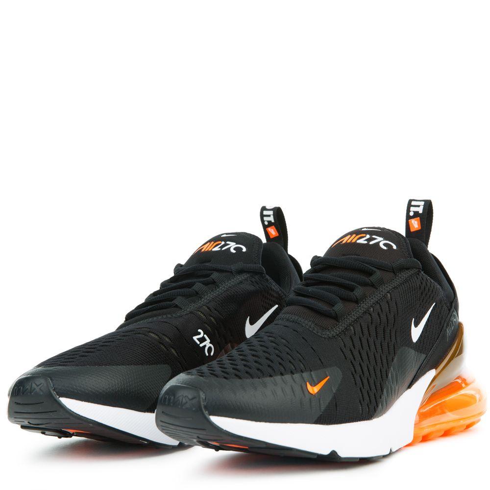 nike air max 270 jdi white/total orange women's shoe