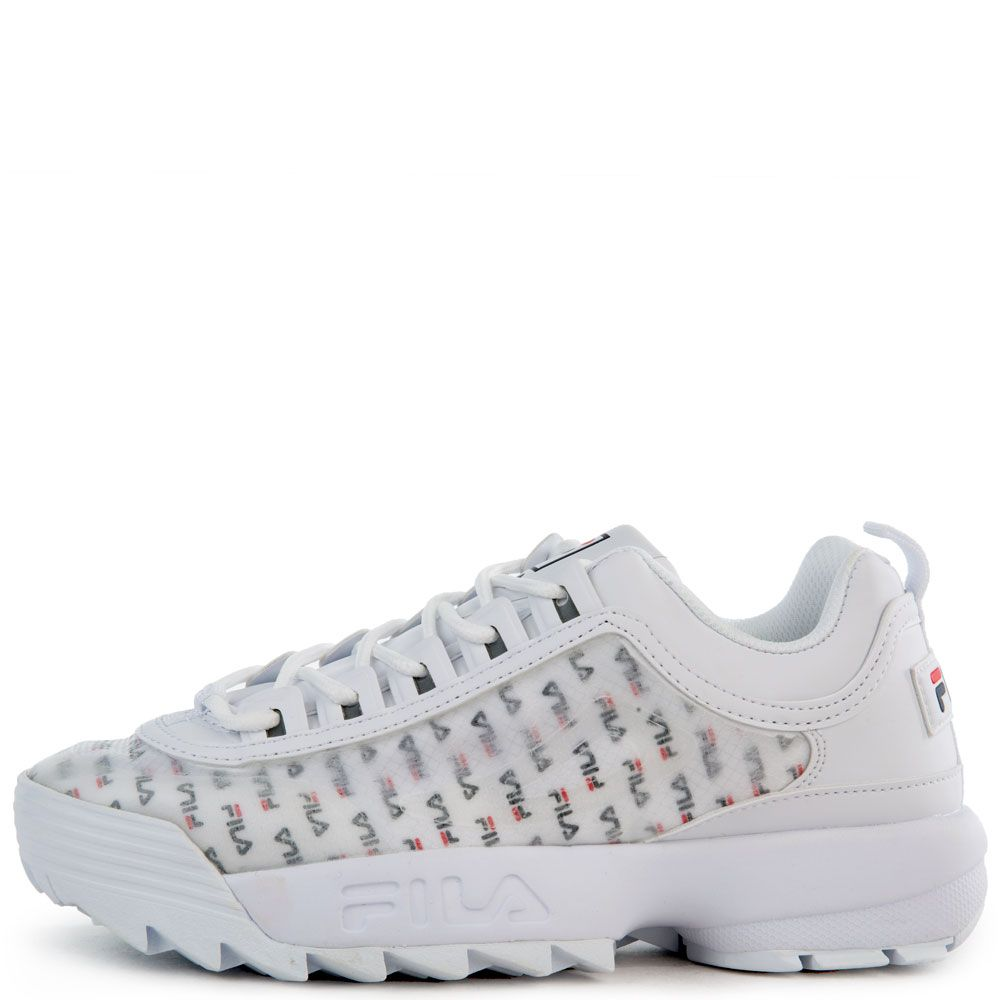 clear fila shoes