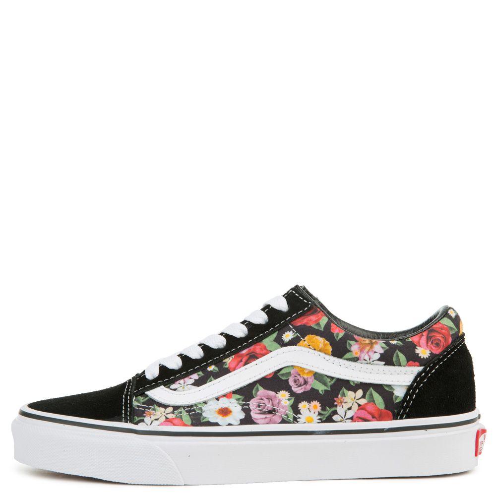 vans old skool lux floral womens shoes