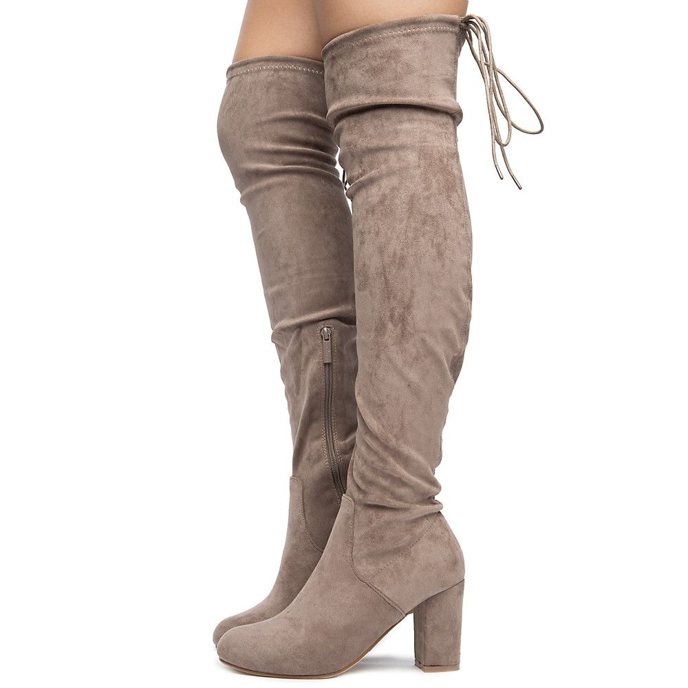 Women's Caryl-1 Over The Knee Boots Taupe