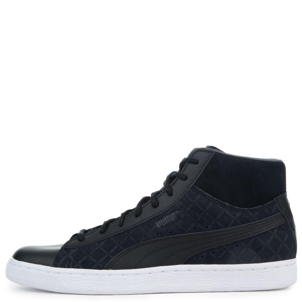Men's Suede Classic Mid Quilt Sneaker PUMA BLACK