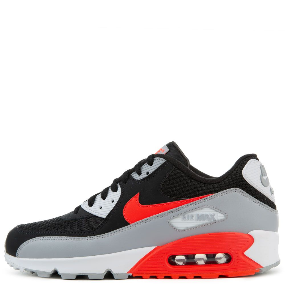 Air Max 90 Essential Wolf GreyBright Crimson Black White