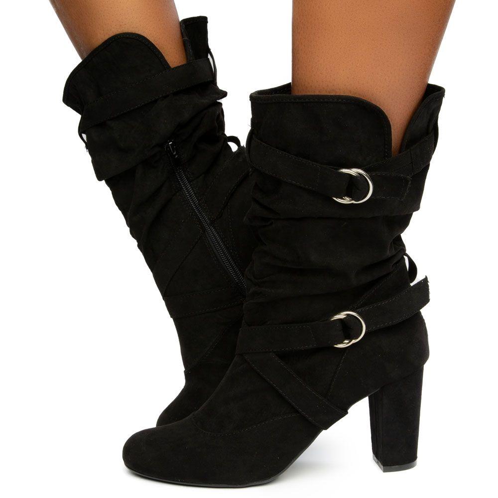 Daystar-01 High Heel Mid-Calf Boots