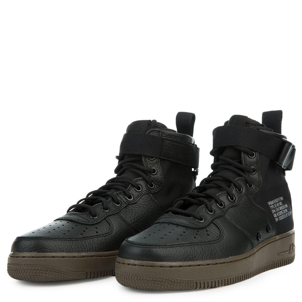 Nike Air Force 1 Mens - SF AF1 MID BlackBlack Dark Hazel