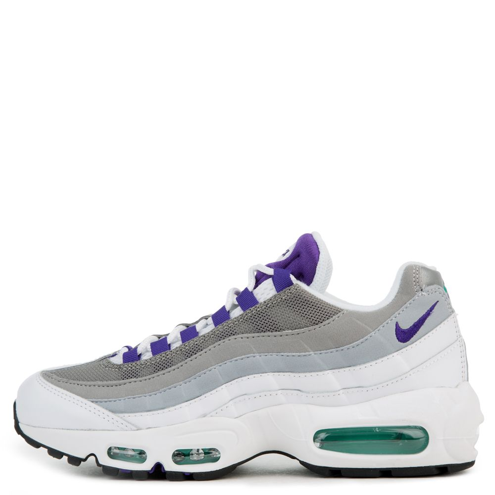 factory price 34e85 abda5 AIR MAX 95 WHITE/COURT PURPLE-EMERALD GREEN