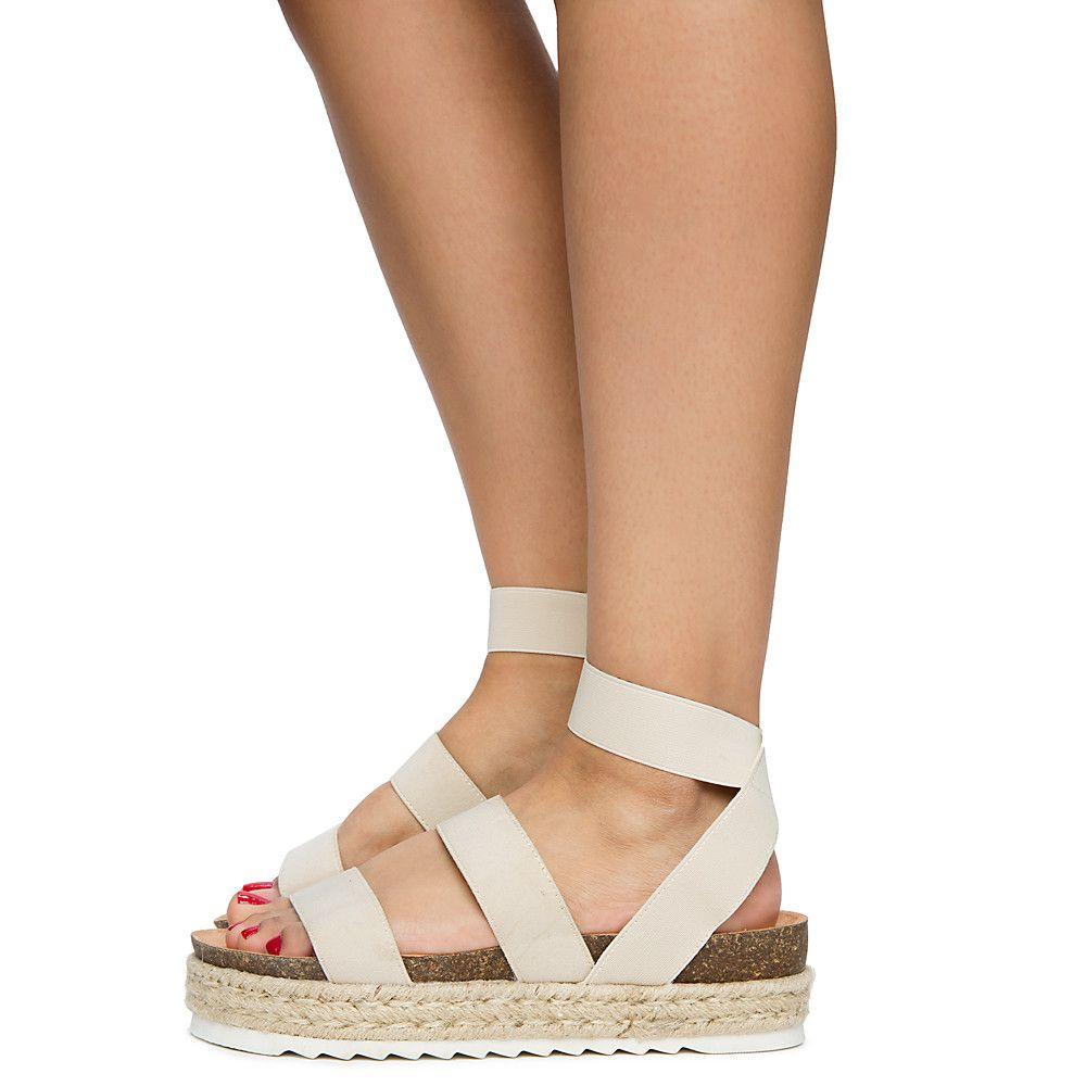 Women's Kacie Platform Sandals Beige