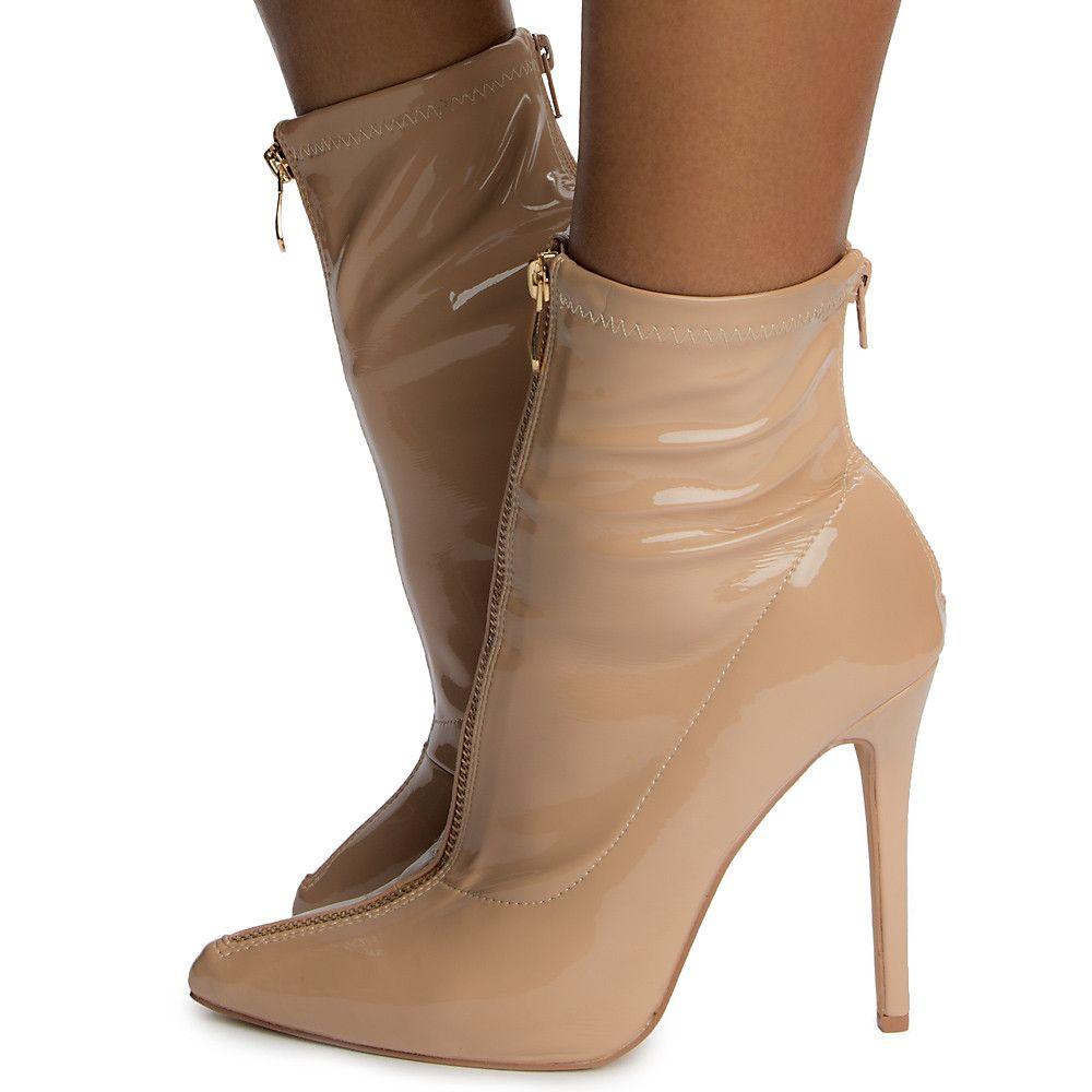 Rohb Womens Shoes Monaco Peep Toe Casual Ankle, Nude High