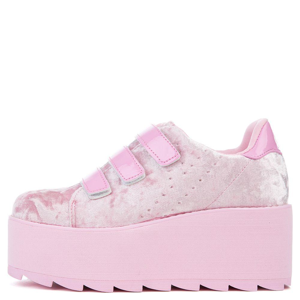 YRU LaLa Velcro Pink Velvet Women's