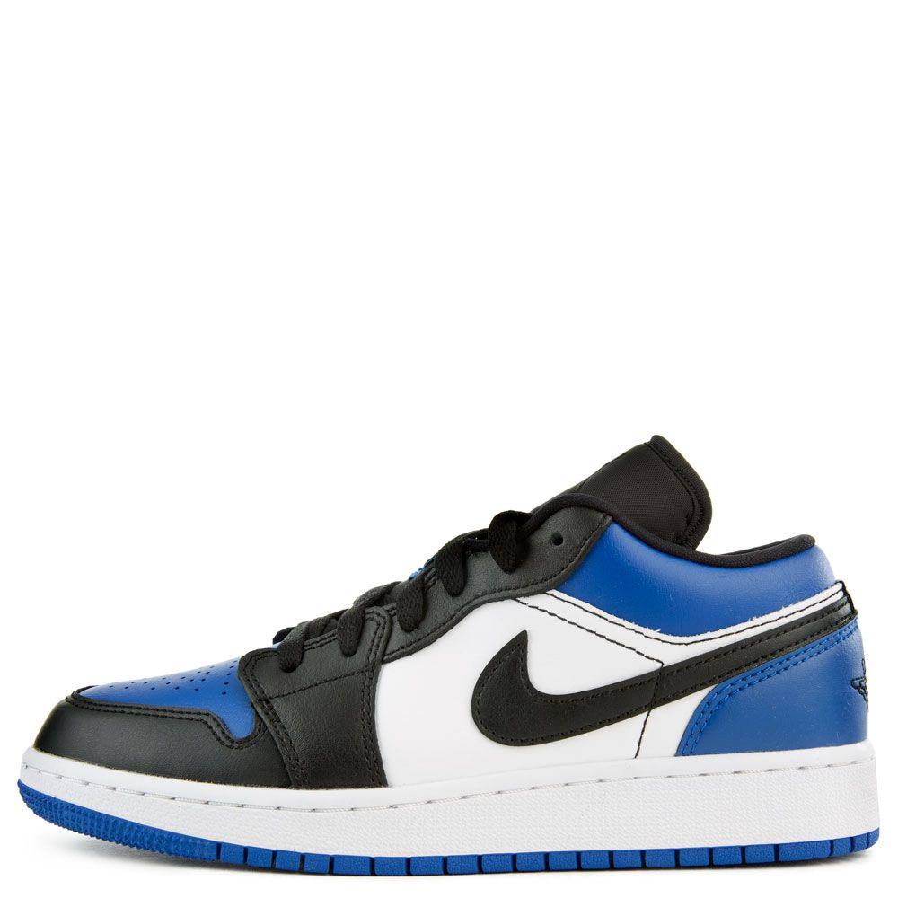 Gs Air Jordan 1 Low Sport Royal Black White