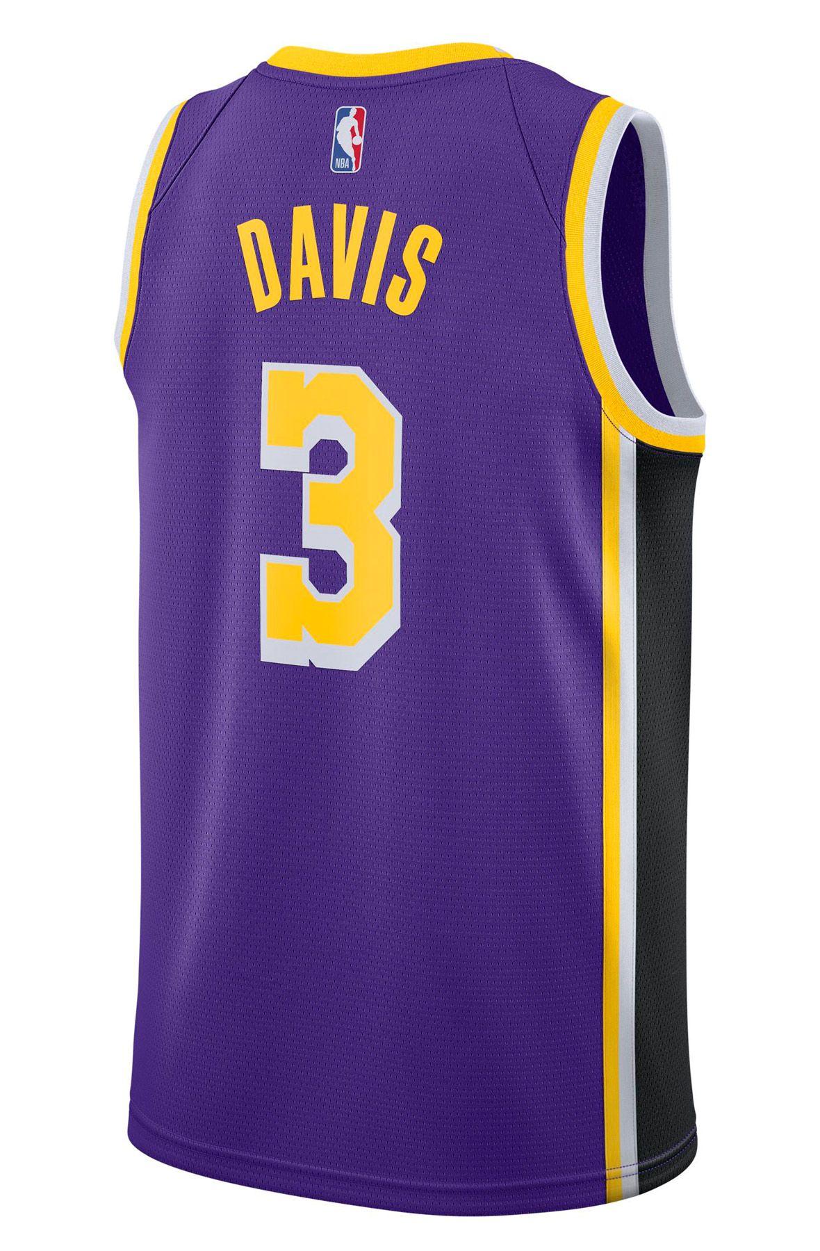 ANTHONY DAVIS LAKERS STATEMENT EDITION 2020 NBA SWINGMAN JERSEY