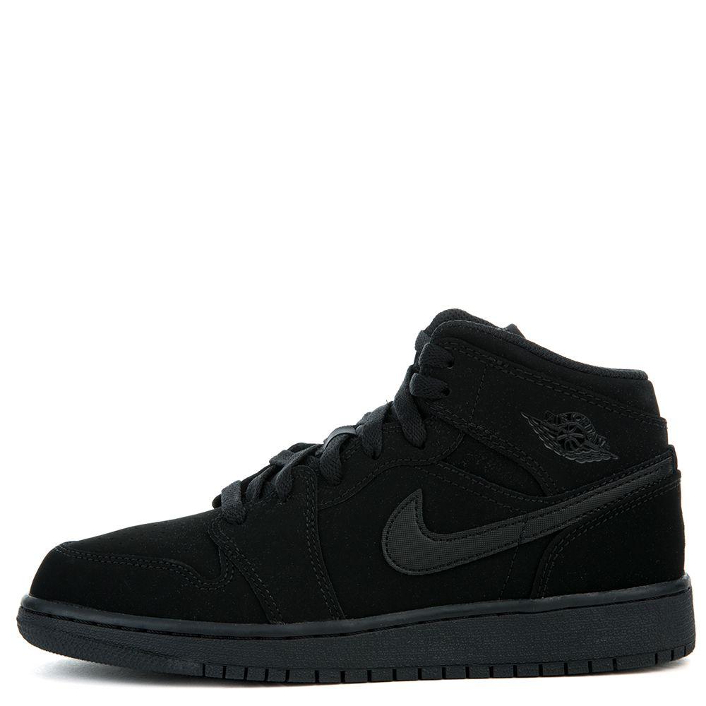 new styles hot product temperament shoes AIR JORDAN 1 MID BG BLACK/WHITE-BLACK