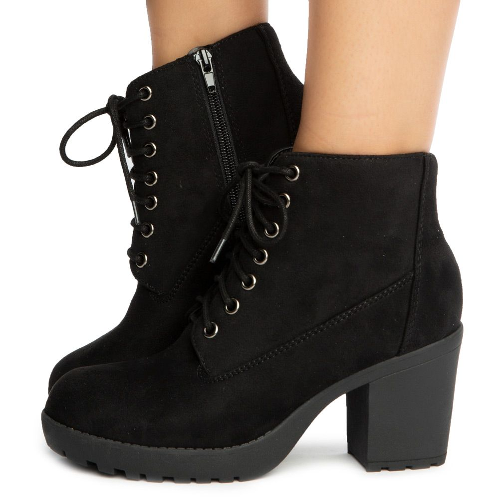 Second-S Lace Up Booties