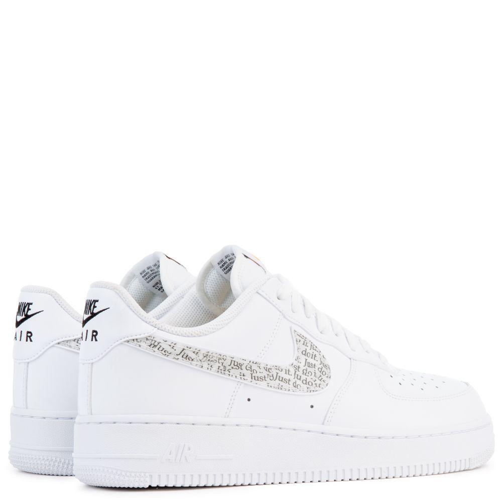Nike AIR FORCE 1 '07 LV8 JDI LNTC 'WHITEWHITE BLACK TOTAL