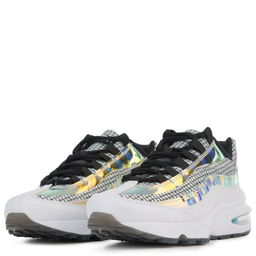 superior quality e7ae1 79618 (GS) AIR MAX 95 LV8 WHITE/BLACK-BLUE GAZE-LIME BLAST