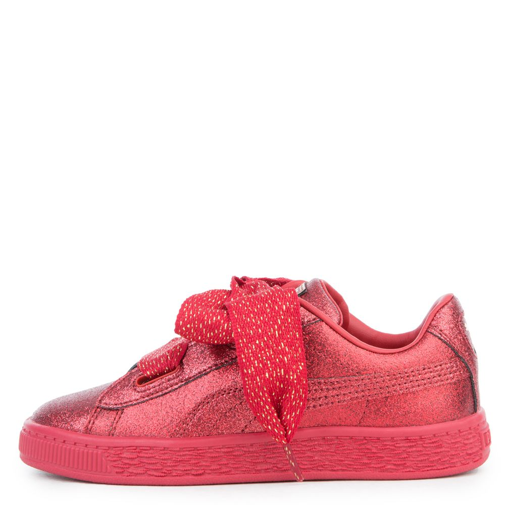 puma basket heart rose gold