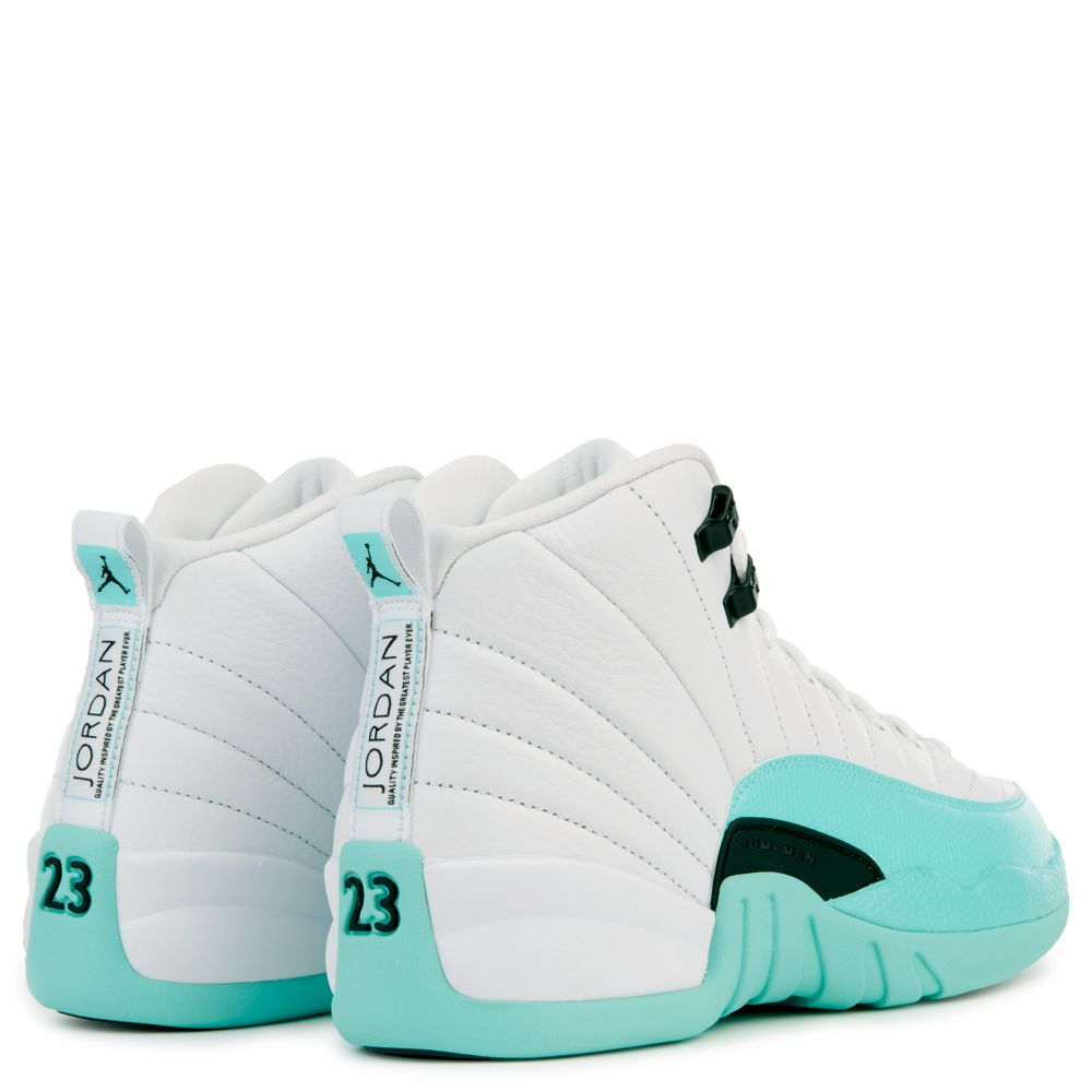 super popular f2d0a 5f7db AIR JORDAN 12 RETRO (GG) WHITE/BLACK-LIGHT AQUA