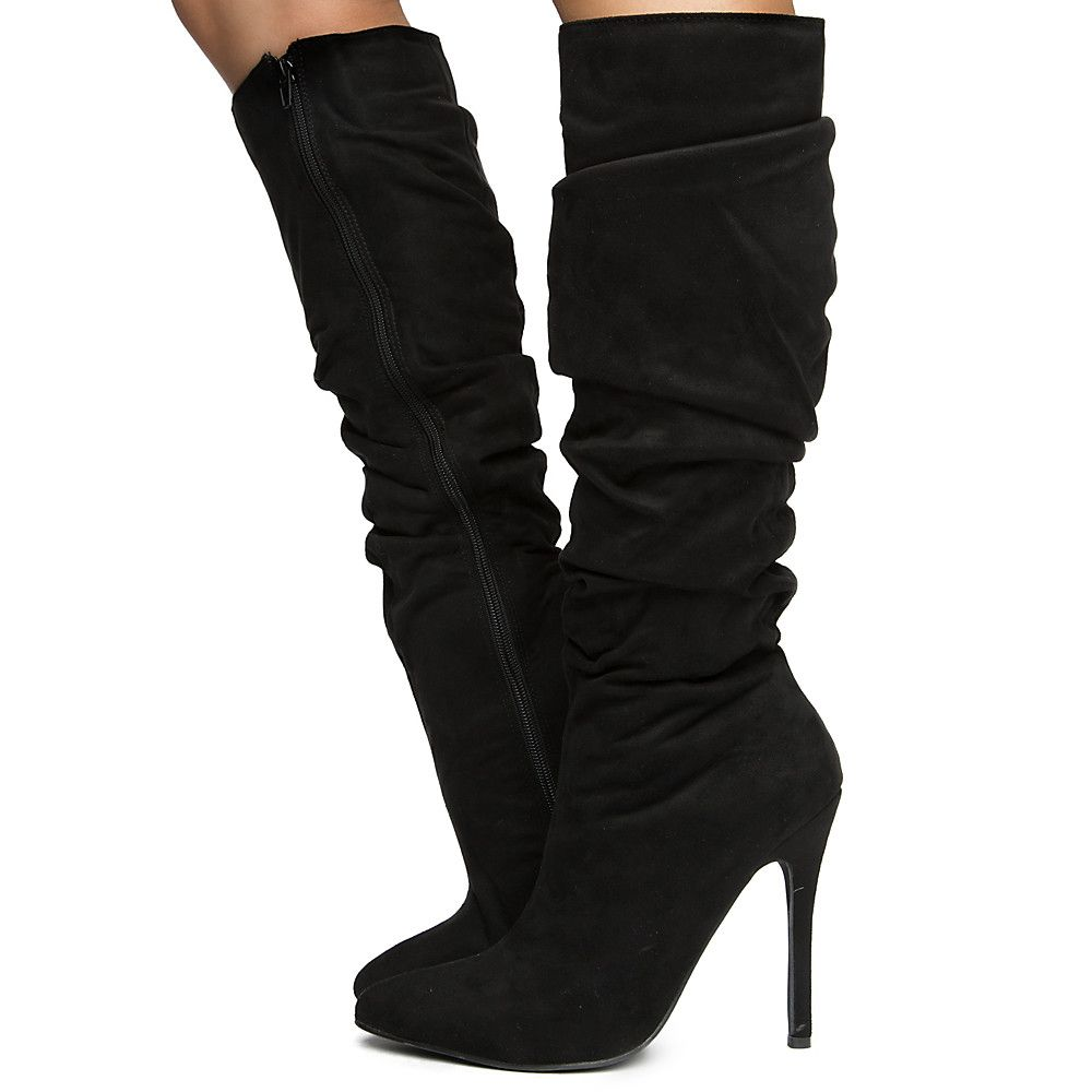 Women's Knee High Boot BLACK