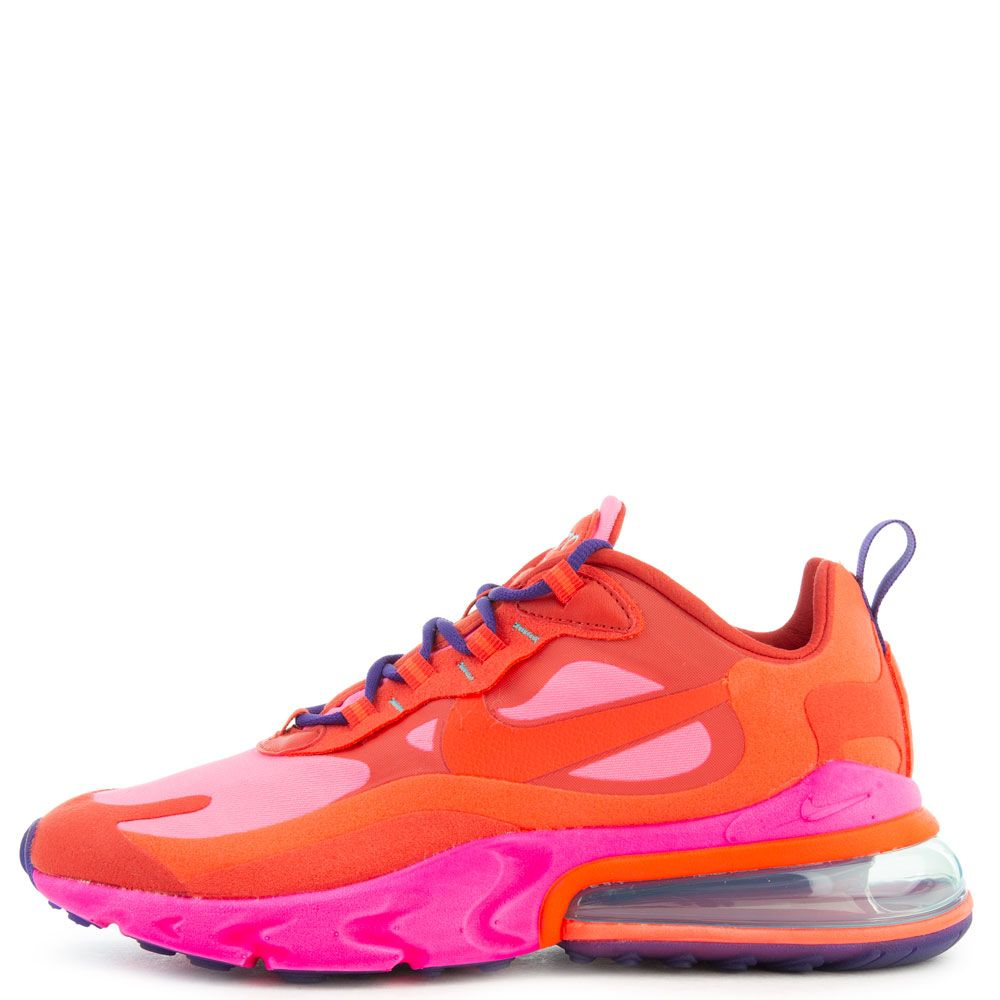 Women S Air Max 270 React Mystic Red Bright Crimson Pink Blast