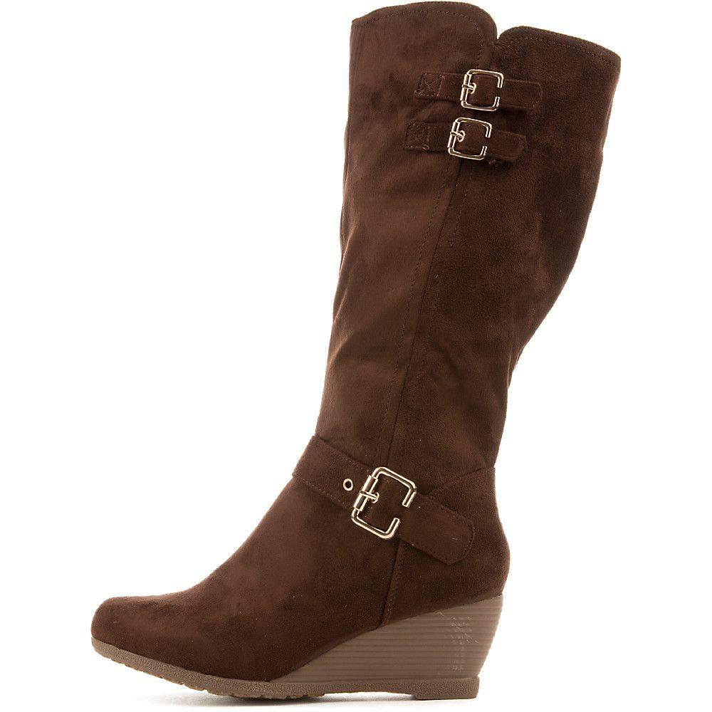 Women's Monicay-2 Mid-Calf Wedge Boot Brown
