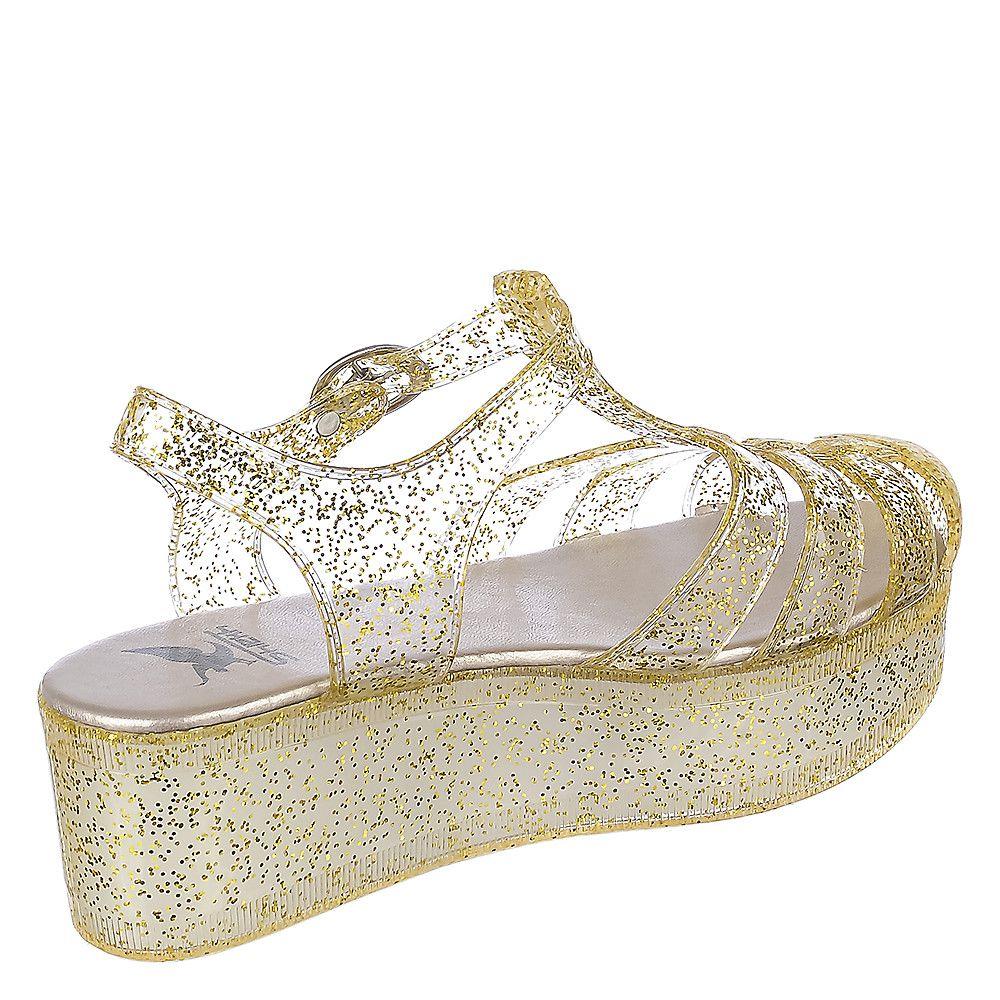 Women's Disco-01 Platform Jelly Sandal Gold