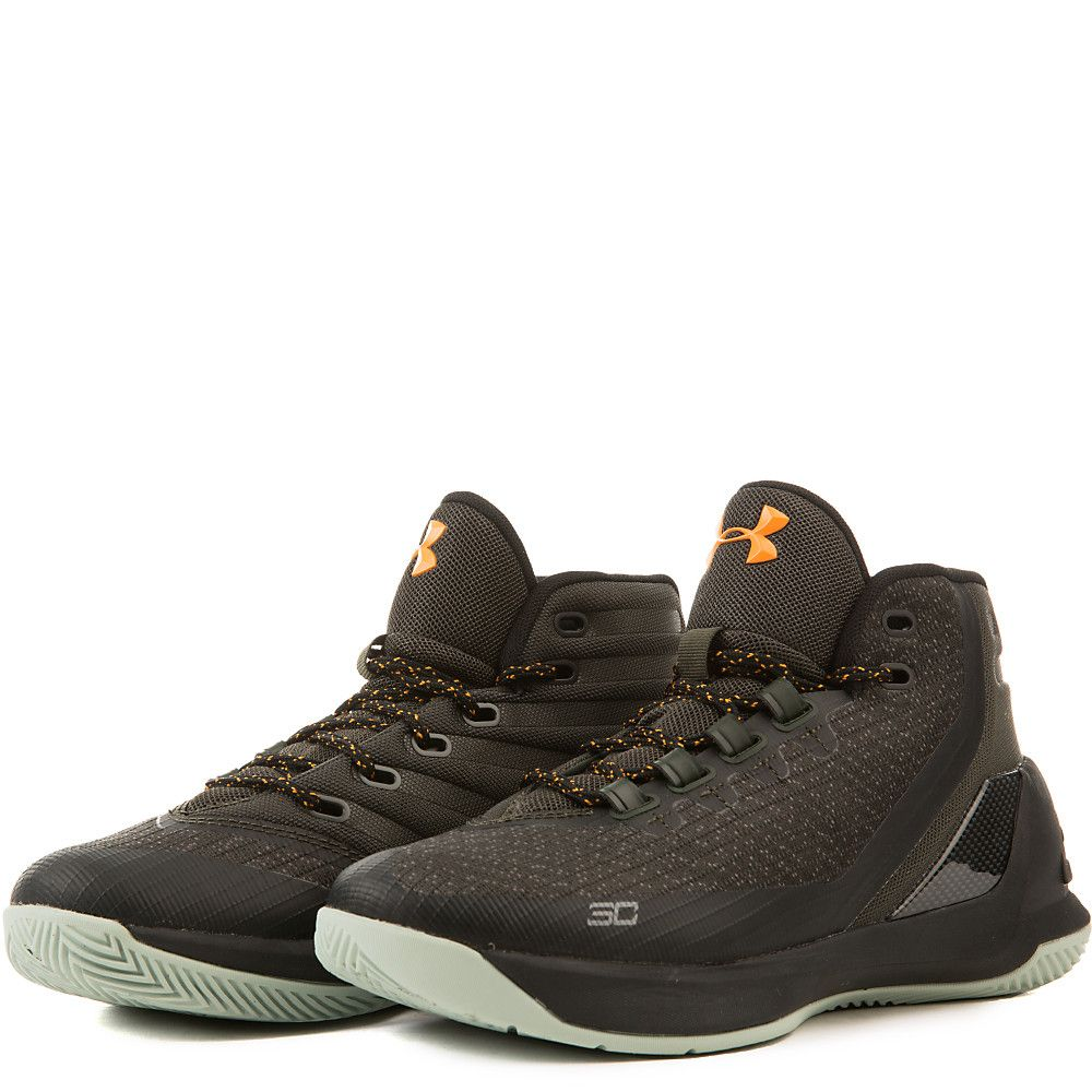 competitive price 88ad9 8f586 Juniors Curry 3 'Flight Jacket' Athletic Basketball Sneaker  Green/Black/Yellow